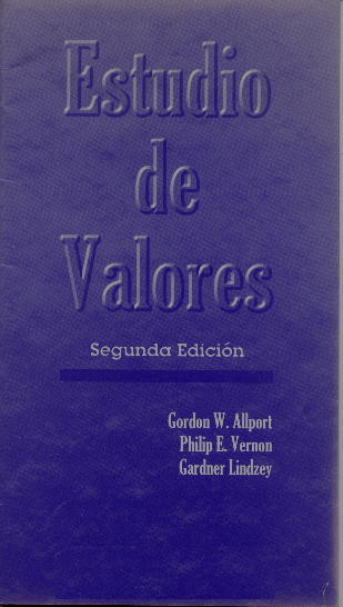 Allport-Vernon-Lindzey Study of Values - Oxford Reference